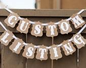 Custom Listing for Samantha