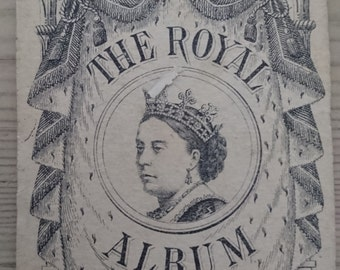 Antique small booklet, the Royal Album, Queen Victoria
