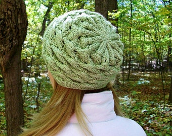Celtic Slouchy Hat Knitting Pattern