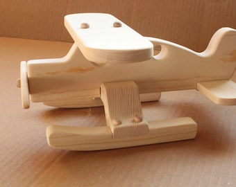 Handcrafted Wooden Float Plane 124
