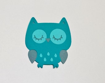 12 Owl die cuts - 3 inches tall