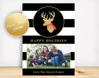 Glitter Printable Holiday Card