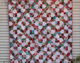 Christmas Stars Scrap Quilt