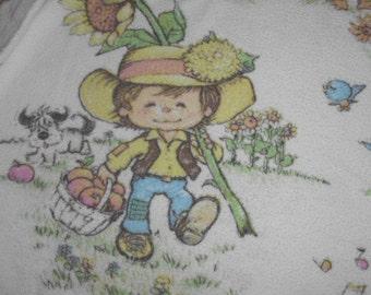 children fabric 70s Vintage 50 x 90cm