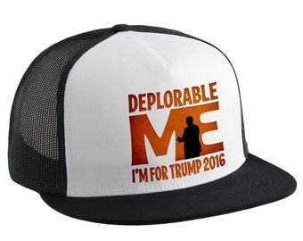 Deplorable Me Etsy - Deplorable trump supporters hats with us map of red states
