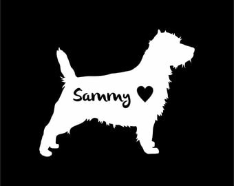 Cairn Terrier Dog Vinyl Sticker Decal Car Personalized With Name