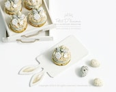 Speckled Candy Eggs Paris Brest -ONE- French Pastry in 1/12th miniature dollhouse patisserie