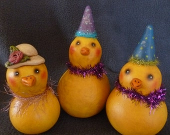 Gourd Spring Chicks with Hats