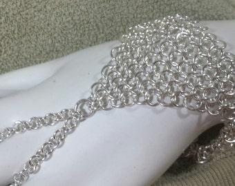 Silver European 4 in1 Chain Maille Slave Bracelet