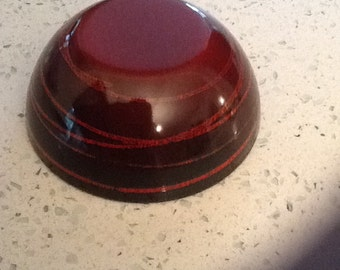 "Cathrineholm 4"" Red Saturn Bowl"