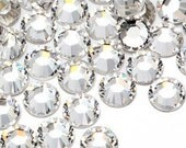 100pcs Cute Crystal White Nail Art Round Crystal Glass Rhinestone RS-04