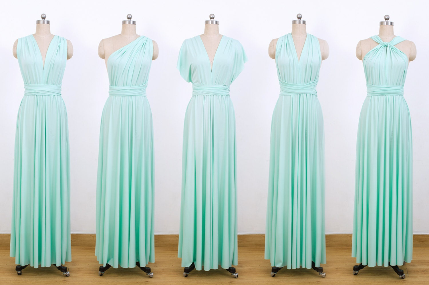 Mint Green Maxi Infinity Dress Convertible Bridesmaid Dress