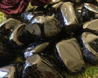 BLACK TOURMALINE  (Grade A Natural) Clear Tumbled Polished Stone Gemstone Rocks for Healing, Yoga, Meditation, Reiki, Jewelry Supplies