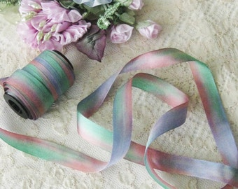 Hand Dyed Silk Ribbon (13) 1/2 inch - 5 yards - Ribbonwork, Embroidery, Sewing, Crafts