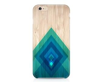 Wood and Diamonds Phone Case, Chevron Phone Case, Rustic Phone Case, Teal Phone Case, Custom Phone Cover, iPhone 7, Samsung Galaxy S8