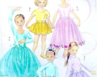 McCALL's / Pretty Dresses/ Flower Girl, Girls' Ballet and Skating Costumes, Leotards,  Sizes 7 to 14