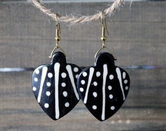 Ebony and Ivory African Inspired Earrings