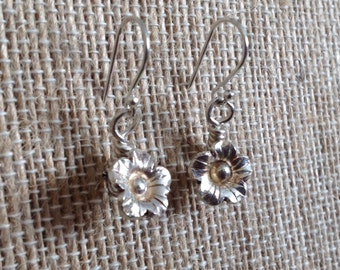 Hill Tribe Fine Silver Flower Earrings