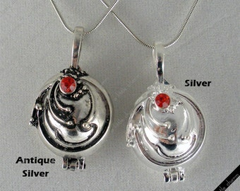 Vampire Diaries Elena's Vervain Antique Silver Locket Vintage Necklace
