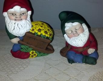 Mini Ceramic Garden Gnomes
