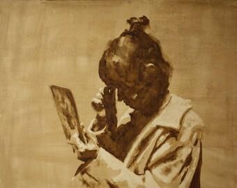 Original oil on canvas painting (Medium size)