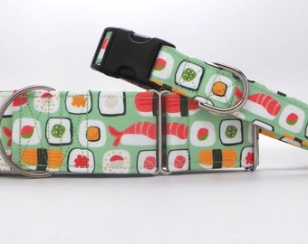 Sushi King Dog Collar (Martingale, Buckle or Tag)