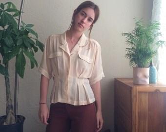 Silky Chiffon Safari Girl Blouse