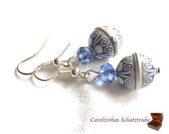 Earrings earth blue vintage earrings