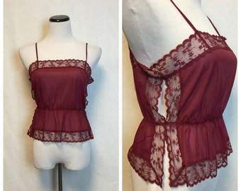 Vintage Lace Tank/ 70's camisole