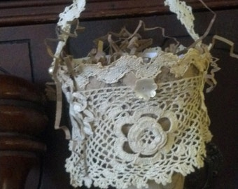 Beautiful linen, lace cones...