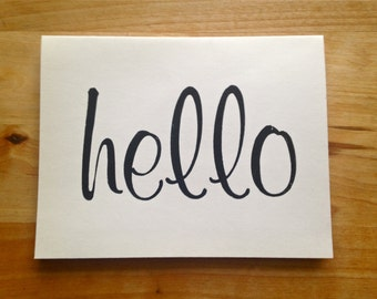 Letterpress greeting card – Hello