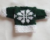 Knitted Mini Jumpers Christmas tree ornament Christmas tree accessory stocking stuffer handmade snowflake jumper