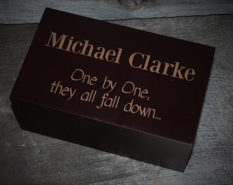 Personalized, Laser Engraved, Customized Domino Set, Dominos, Includes Personalized Wooden Box and 92 Dominos