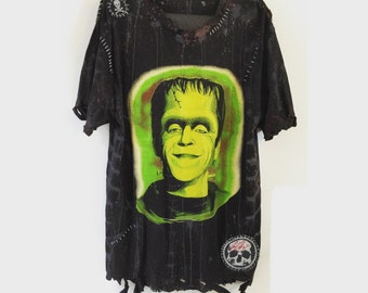 Herman Munster T Shirt by Chad Cherry