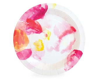 Floral Escape Dessert Plates (Set of 12)