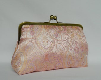 Blush Pink and Lilac Clutch Purse, Wedding Clutch, Bridal Clutch, Pink and Lilac Clutch, Clutch Purse, Evening Clutch, Bridesmaids Gifts