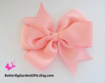 Pink pinwheel hair bow clip