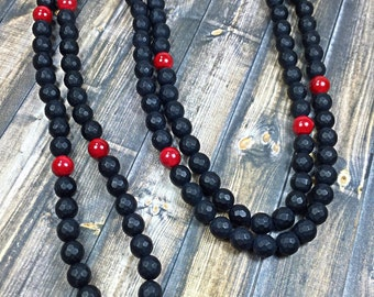 Mens beaded necklace, mens necklace, onyx necklace, beaded necklace, jewelry, gifts for him, mens jewelry, gifts for men, necklaces