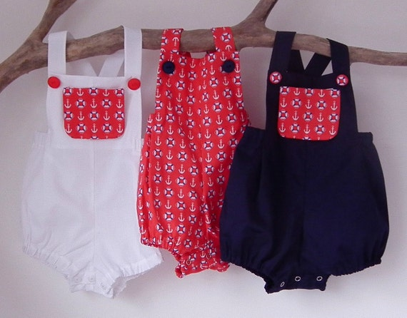Items similar to Baby Boy Clothes Rompers Boy Clothing