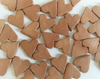 Ceramic Heart For Mosaic Tile or Aromatherapy Unglazed Ceramic Charm