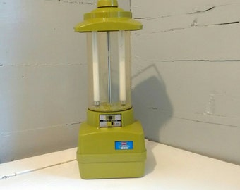 Vintage, Outdoor Light, Camping Lantern, Backyard Light, 70s, Ray O Vac, Fluorescent, Sportsman, Avocado Green, RhymeswithDaughter