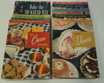 Nine vintage cookbooks