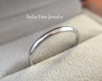 Platinum 2mm Wide Ring Women's Wedding Band