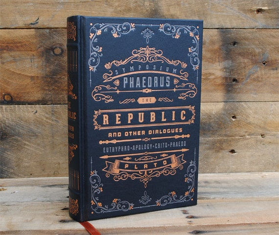 Hollow Book Safe - The Republic - Leather Bound
