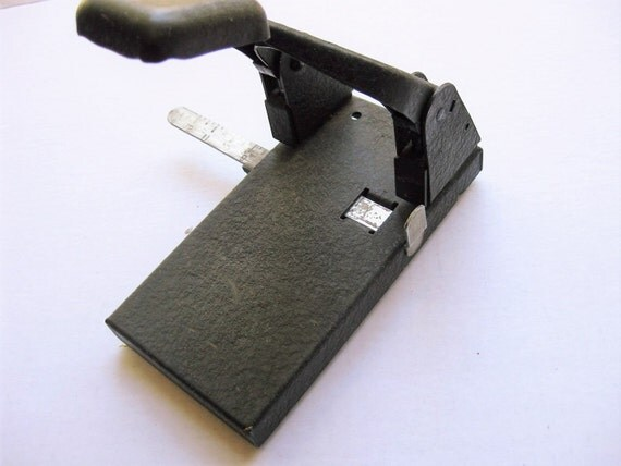 Vintage Bates Perforator 2-hole punch. Model  2. Desk accessories. Vintage office supplies. Industrial office.