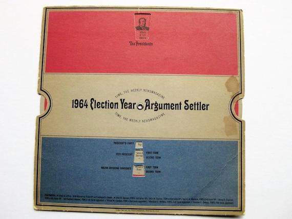 1964 Election Year Argument Settler. Time magazine. Politics. Pub quiz. Political collectible. Trivia wonks. U.S. history.