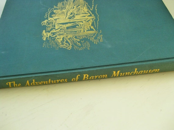 """1944 """"The Adventures of Baron Munchausen"""" Pantheon Books. First Printing. Illustrated by Gustav Dore."""