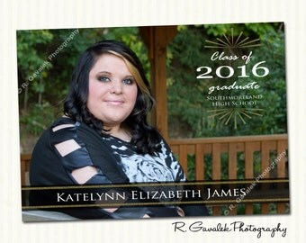High School Graduation Announcement Photo Card
