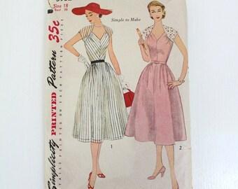 Vintage Dress Pattern, Simplicity Dress Pattern, Women's Dress Pattern, Ladies Dress Pattern, Dress Pattern, Sewing Pattern, Vintage Pattern