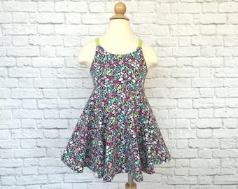 Festival Dress, Girls Dress, Baby Dress, Toddler Dress, Beach Dress, Summer Dress, Twirling Dress, Boho Dress,  Belle Fleur Floral Dress